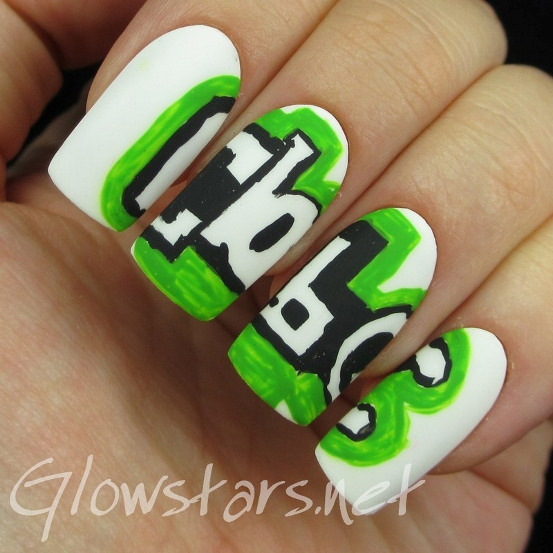 The Digit-al Dozen does thankfulness: CBBC nail art by Vic 'Glowstars' Pires