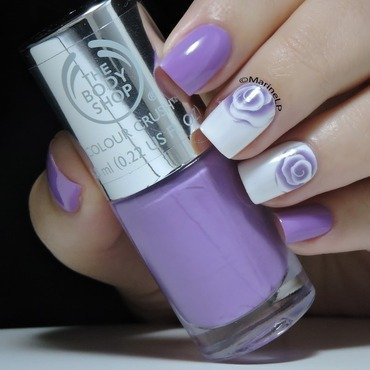 Elegant Violet Rose Water Decal Nails nail art by Born Pretty