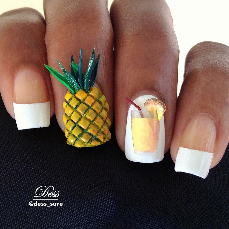 Pineapple  nail art by Dess_sure