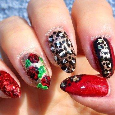 Rouge Profond nail art by Amanda