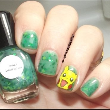 Pikachu nails by Mycrazydesigns