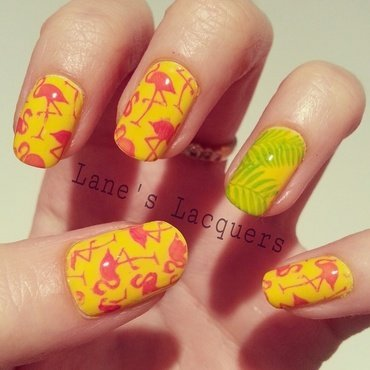52wpnmc yellow wild animal nail art thumb370f