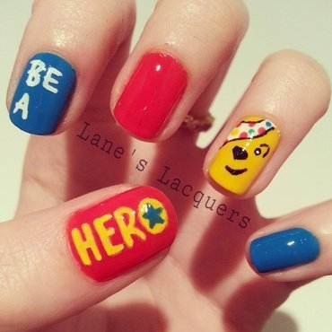 Bbc children in need 2014 be a hero pudsey nail art 20 2  thumb370f
