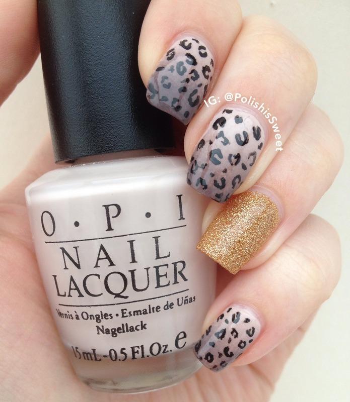 Ombre & Leopard Print! nail art by PolishIsSweet
