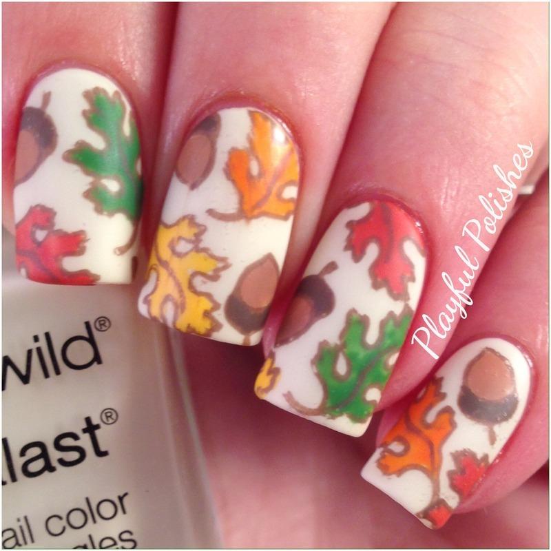 FALL/AUTUMN NAIL ART nail art by Playful Polishes