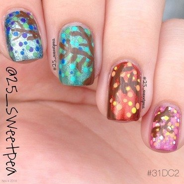 Seasons of a Tree nail art by 25_sweetpea