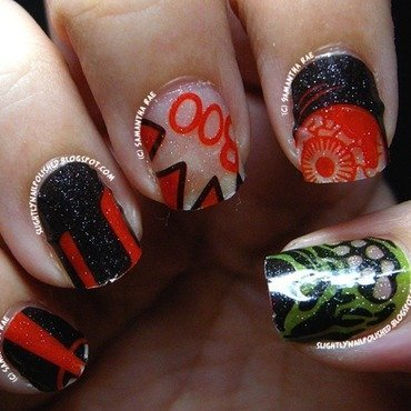 Quirky Halloween Nail Stickers nail art by Samantha Rae
