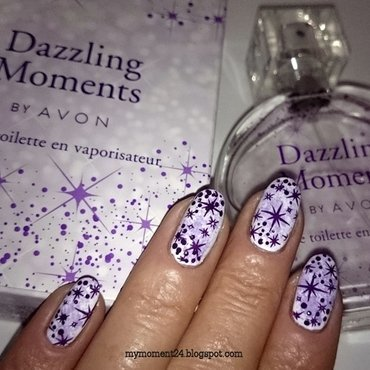 Avon Dazzling Moments nail art by T. Andi