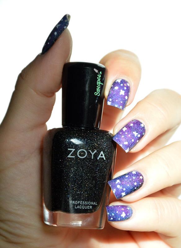 Galaxy nails nail art by Sweapee