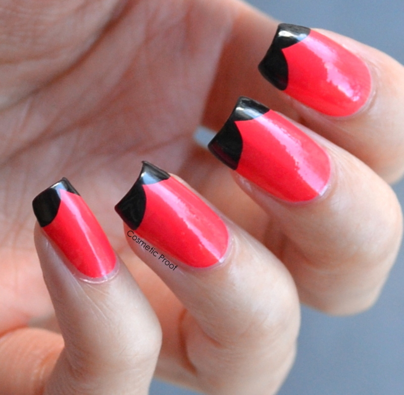 Mod Fishtail French Tips nail art by Jayne