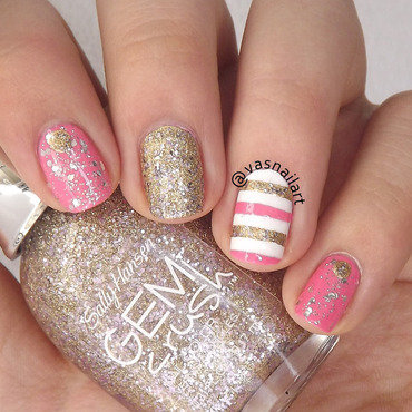 Glitter Mix n Match nail art by  Vanesa