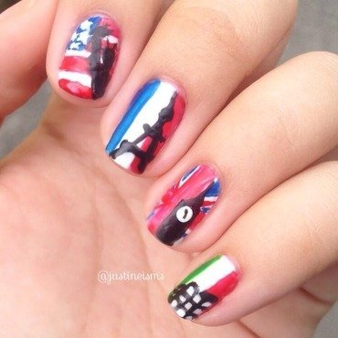 I'm in love with cities I've never been to. nail art by ℐustine