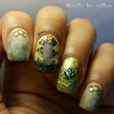 Tuscany nail art by Milly Palma