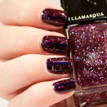 17 illamasqua glitterati over opi russian navy thumb370f