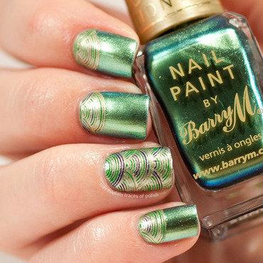 Stamping decal manciure nail art by Zara TracesOfPolish
