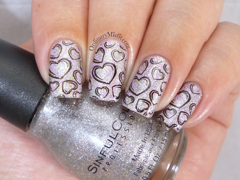 Charmed, Stamped nail art by Michelle