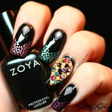 Magical Gems nail art by Karolyn