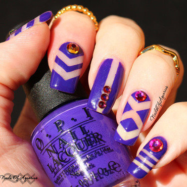 Purple Negative Space nail art by Karolyn