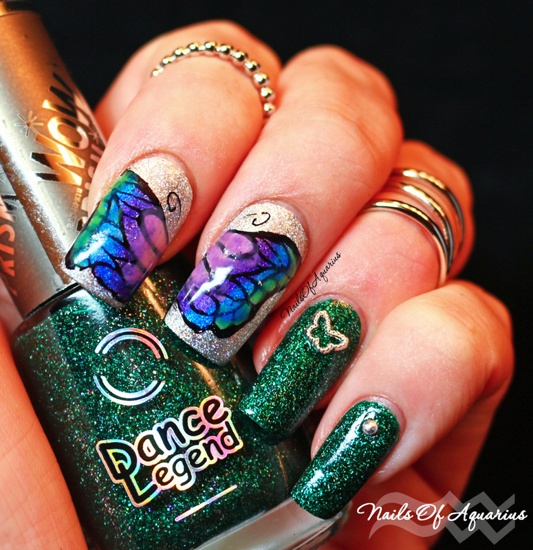 Happy Landing nail art by Karolyn