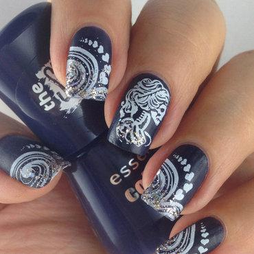 "Essence ""I love my blue jeans"" & Bundle Monster BM-612 nail art by Natasha"