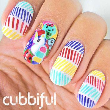 Unicorn birthday nails thumb370f