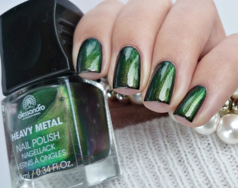 Alessandro Call Me Hero! and Rimmel 60 seconds 800 Black Out Swatch by Romana
