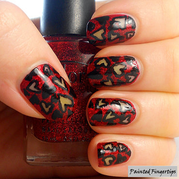 Nails heart pattern thumb370f
