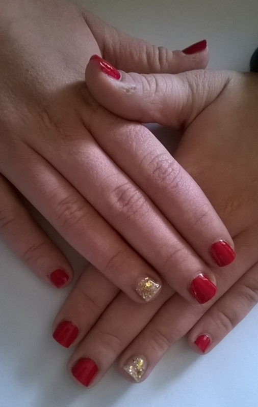Simple accent nail for my sister nail art by Mila