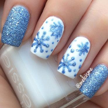 Snowflakes nail art by Melissa