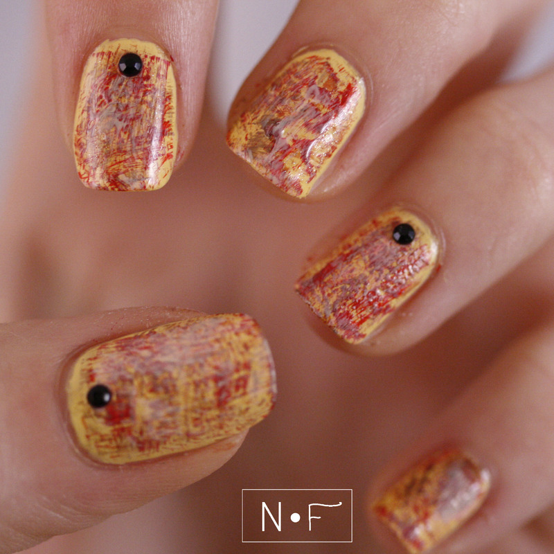 Dry brush for autumn nail art by NerdyFleurty