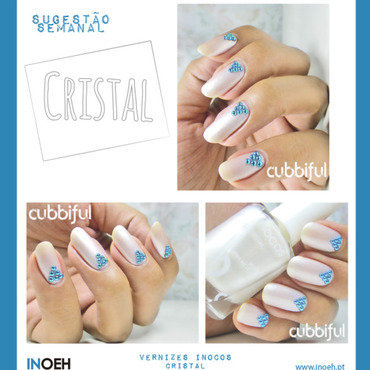 Pearly White Nails nail art by Cubbiful