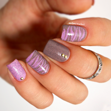 Drag marble nails nail art by melyne nailart