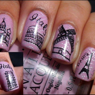 World Traveller nail art by CrazyPolishes (Dimpal)