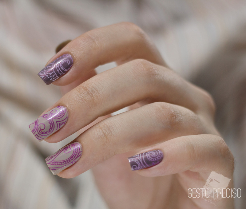 Purple Graphic Pattern nail art by Gi Milanetto