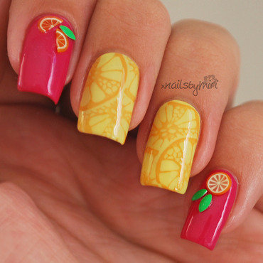 Fresh Lemonade nail art by xNailsByMiri