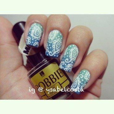 Paisley nail art by Katrina Ysabel Costa