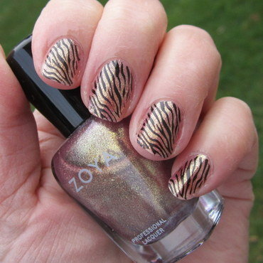 Wild Bronze nail art by HELEN KAY
