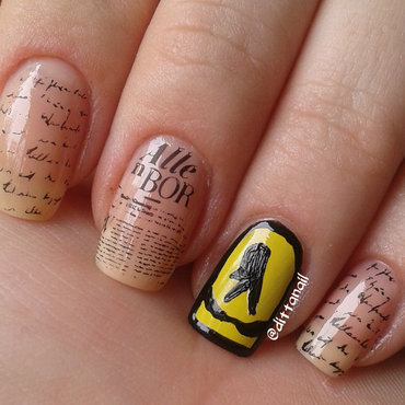 Yellow pages nail art by Ditta
