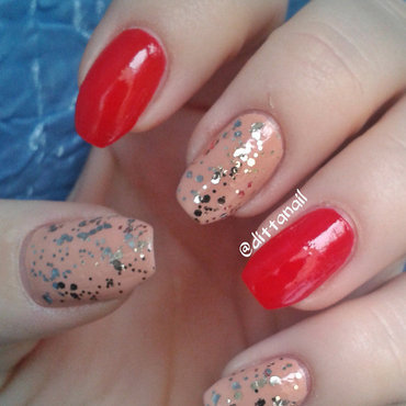 Falling leaves nail art by Ditta