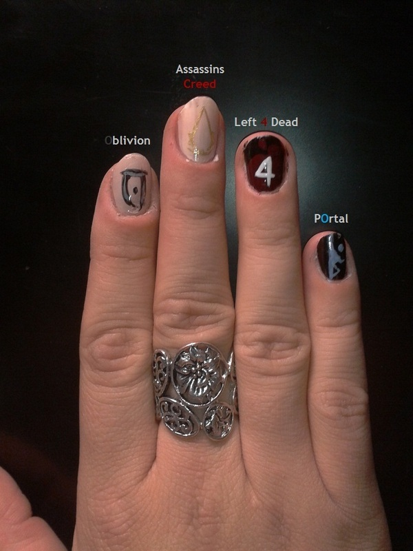 Girly Gaming Nail Art By Anna Nailpolis Museum Of Nail Art