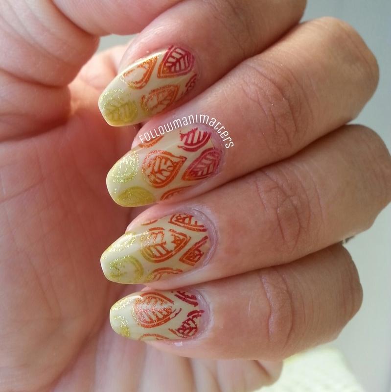 Fall leaves nail art nail art by Manisha Manimatters