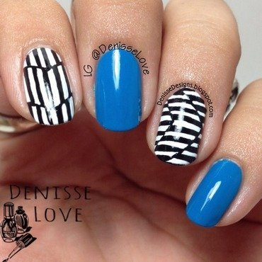 Monochromatic nail art by Denisse Love