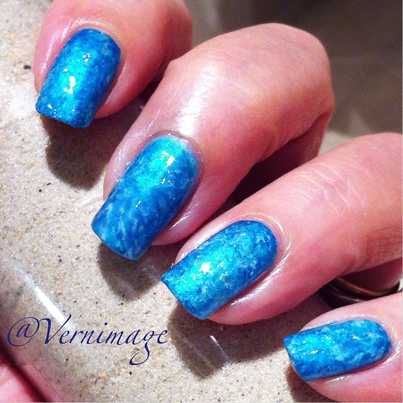 Swimming Pool Nails nail art by Vernimage