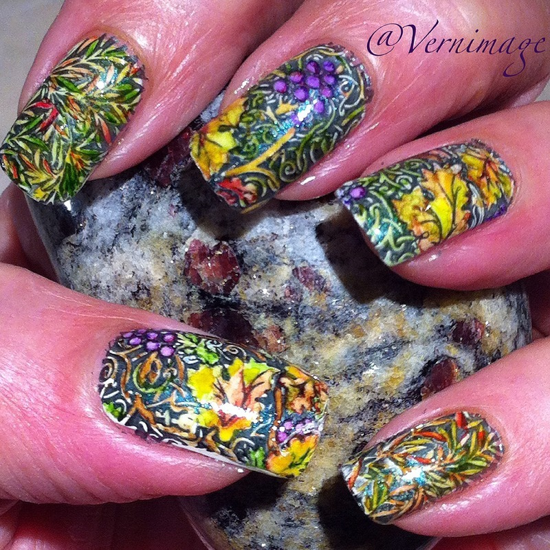 Harvest Time nail art by Vernimage
