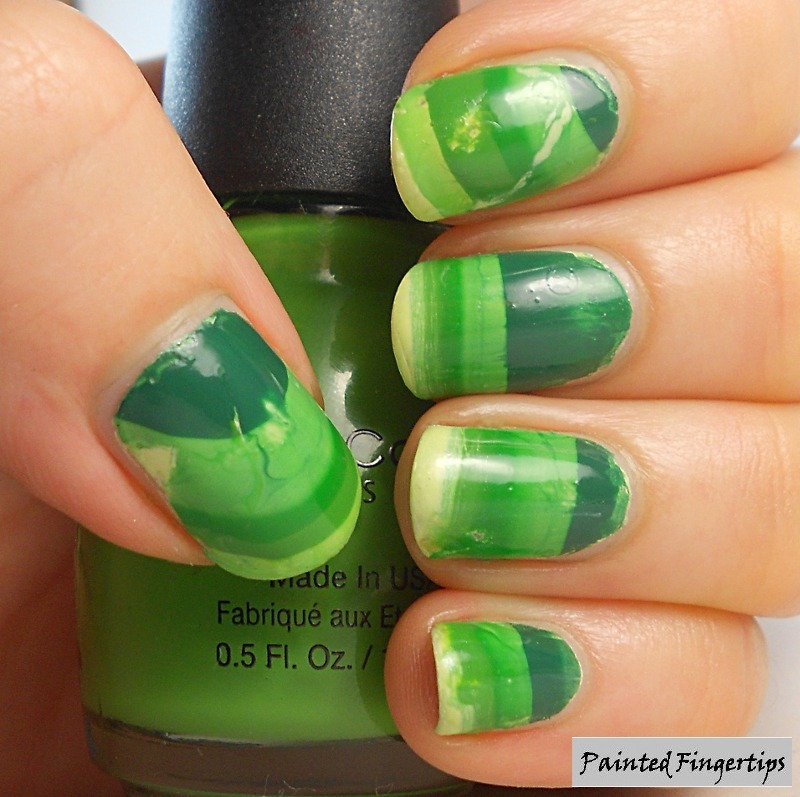 Gradient Water Marble nail art by Kerry_Fingertips