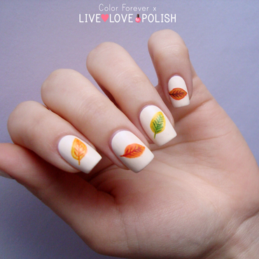 fall leaves nail art by ania
