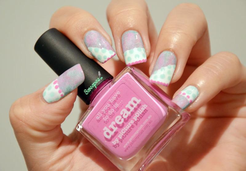 Pastel dream nail art by Sweapee