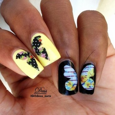 Jamberry Butterflies nail art by Dess_sure