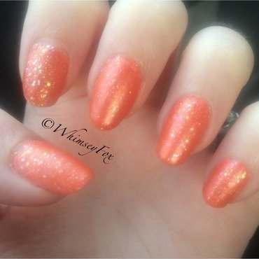 Radiant Dreamsicle nail art by WhimseyFox