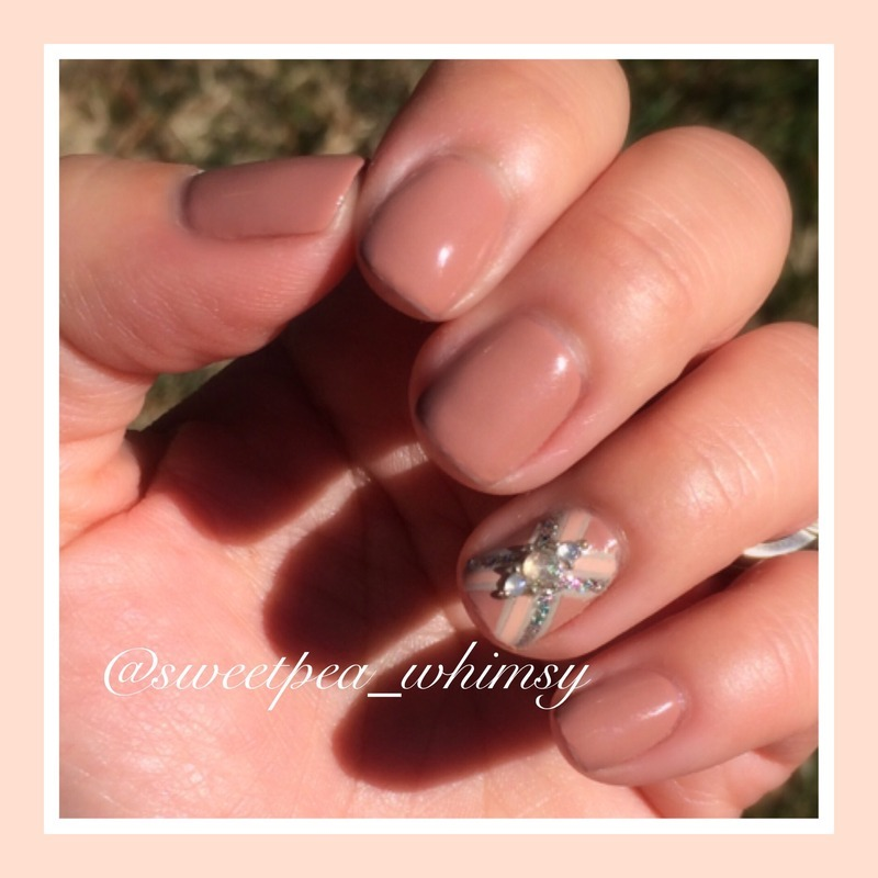 "Nude Neutral/""X"" Marks the Spot nail art by SweetPea_Whimsy"